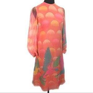 WOW. Gorgeous 70's Vintage Japanese silk dress